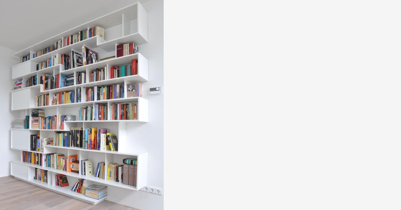 design boekenkast origineel open op maat